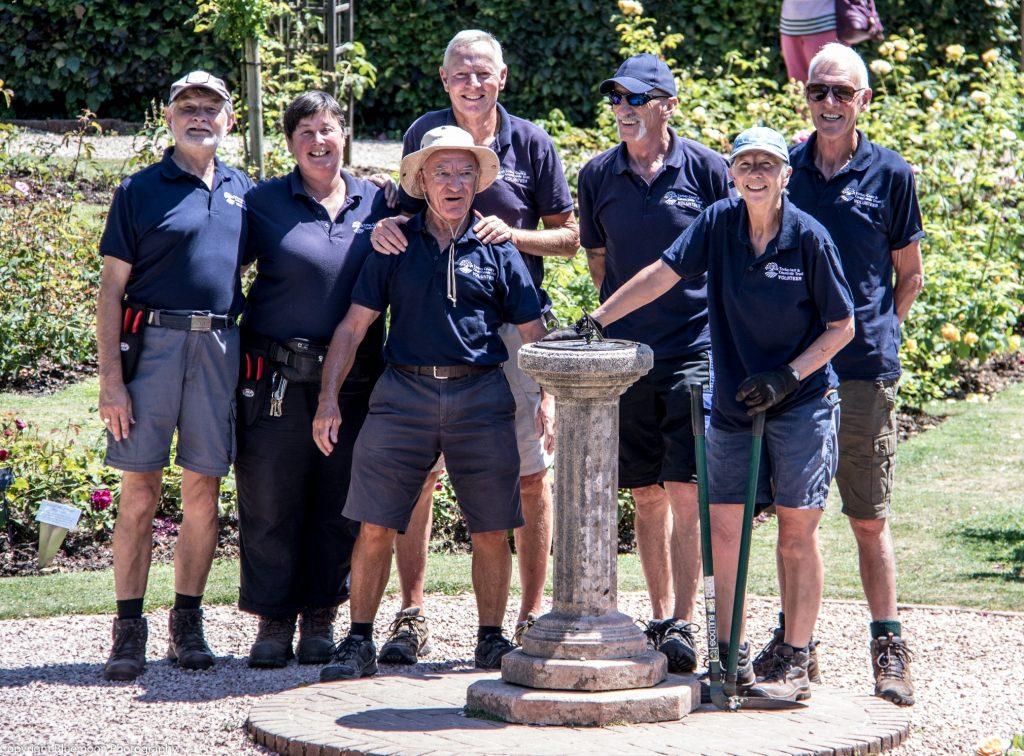 Cockington Rose Garden volunteers